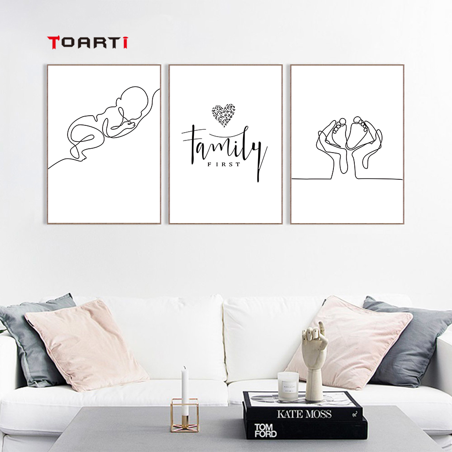 Minimalist Human Body Line Drawing Wall Art Modern Abstract Painting Family Quotes Vintage Posters&Prints Living Room Home Decor (5)