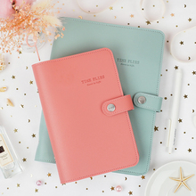 Macaron Cute Spiral Notebooks Stationery Fine Office School Personal Agenda Organizer Binder Diary Weekly Planner Gift A5 A6 macaron leather spiral notebook original office personal diary week planner agenda organizer cute ring stationery binder a5 a6
