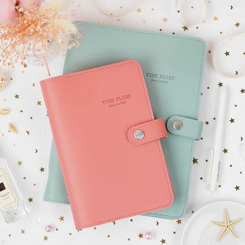 Macaron bonito espiral notebooks papelaria fino escritório escola agenda pessoal organizador binder diário planejador semanal presente a5 a6 a7