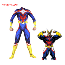VEVEFHUANG Anime My Hero Academia Boku no Cosplay Costume AllMight Zentai Bodysuit Suit Jumpsuits