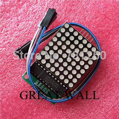 5pcs/lot MAX7219 dot matrix module microcontroller module for arduino display module finished goods