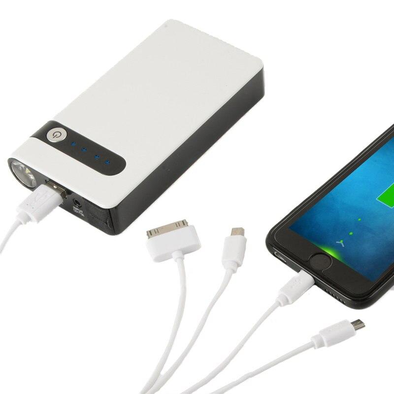 GSPSCN 12V 24V Portable White Mini 20000mAh Car Jumper Booster Power Mobile Phone Laptop Battery Charger