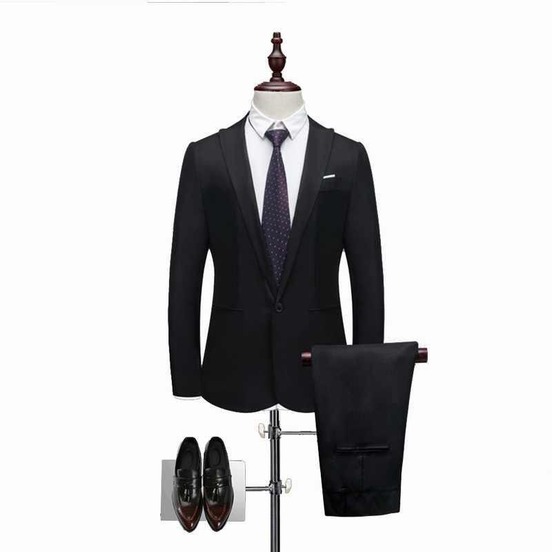 Oeak Classico 2 Pezzi Giacca Sportiva e Pantaloni dell'abito Set Gli Uomini di Affari Formale Set Abbigliamento Casual Slim Fit Più Il Formato 3XL Abiti Da Sposa set