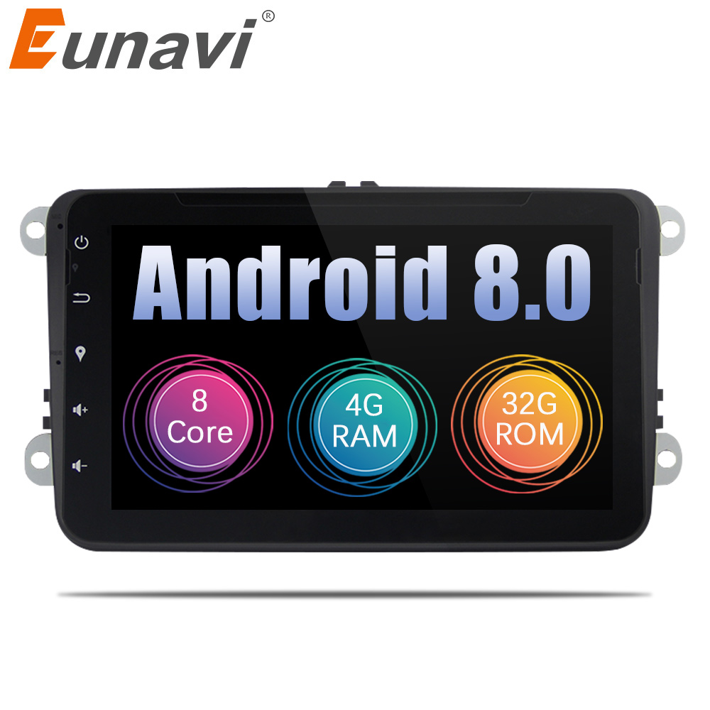 eunavi 8 2din car dvd android 8 0 2 din radio stereo octa. Black Bedroom Furniture Sets. Home Design Ideas