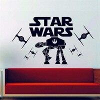 Star Wars AT-AT Imperial Tie Fighter Cartaz Adesivo de Parede Meninos Quarto Wall Art Decor Star Wars Fãs de Decoração para Casa