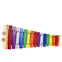 M WS HOT SALE Colorful Glockenspiel Xylophone Wooden & Aluminum Percussion Musical Instrument Educational Toy 15 Tones