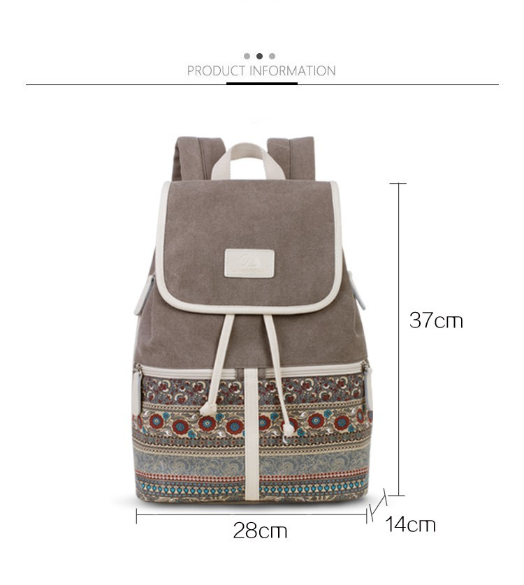 Canvasartisan Top Quality Canvas Women Backpack Casual College Bookbag Female Retro Stylish Daily Travel Laptop Backpacks Bag