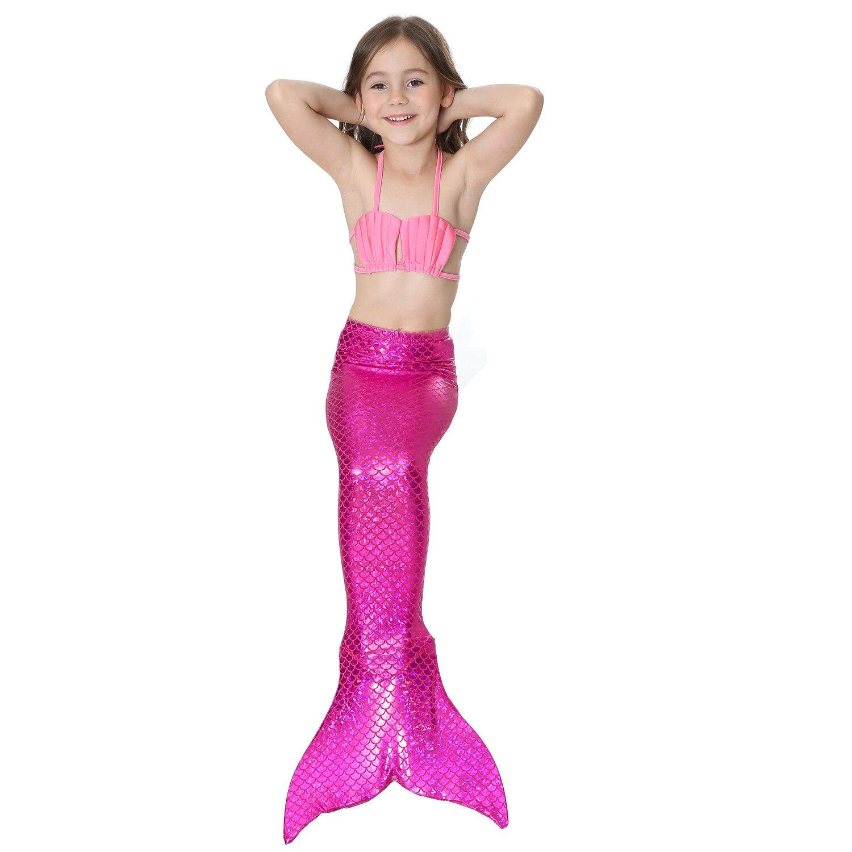 2018 Poletna dekleta za otroke Mermaid repi Bikini kopalke Fancy - Karnevalski kostumi