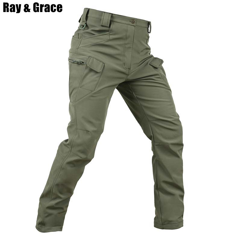 RAY GRACE Winter Military Outdoor Pants Thicken Fleece Tactical Men Hunting Army Pants Waterproof Thermal Sport Hiking TrousersRAY GRACE Winter Military Outdoor Pants Thicken Fleece Tactical Men Hunting Army Pants Waterproof Thermal Sport Hiking Trousers