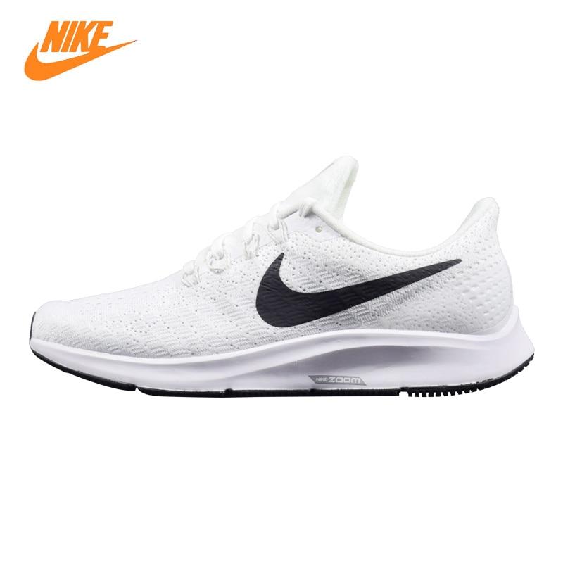 Nike Air Zoom Pegasus 35 Men Running Shoes, White & Black, Lightweight Breathable Non-slip Wear-resistant AO3939 100 слипоны nike sb zoom stefan janoski slip black white