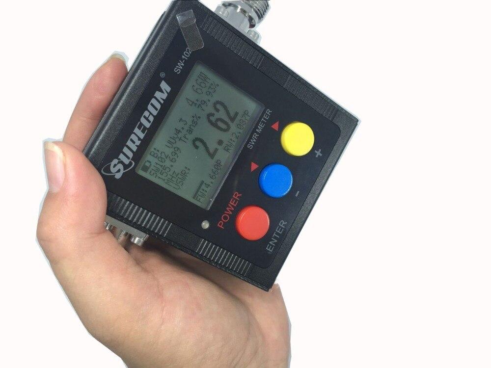 VSWR 1.00 19.9 Digital VHF UHF 125 525mhz SURECOM SW 102 With 2pcs RF Adaptor Baofeng Radio Walkie Talkie Power SWR Meter 120W-in Walkie Talkie from Cellphones & Telecommunications    2