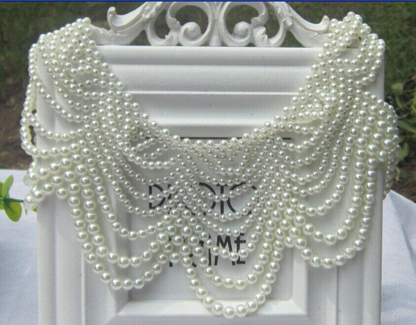 Factory Outlet ladies wild imitation pearl fake collar women fashion chocker necklace