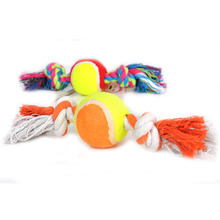 2017 Hot Sale Dog Toys Cotton Rope Ball Pet Dog Training Toys Durable Small Or Big Dog Tennis Toy for Dogs Random Color