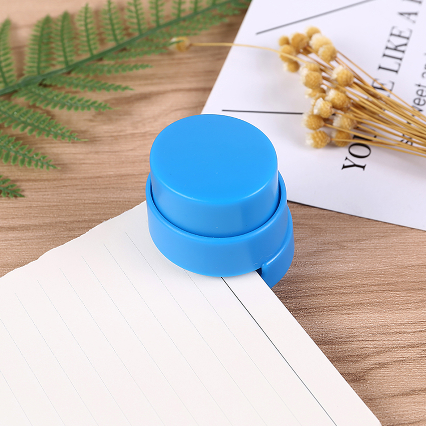 ABS Plastic Staple-free Stapler Paper Binding Tool Staple Free Stapler For Kids Student Stationery School Office Supplies