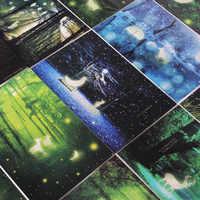 30 feuilles/ensemble à la recherche de carte lumineuse légère carte postale carte de voeux carte Message cadeaux de noël et nouvel an