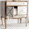 MR-401115 Oro Antiguo beso negro pecho espejo para muebles de dormitorio