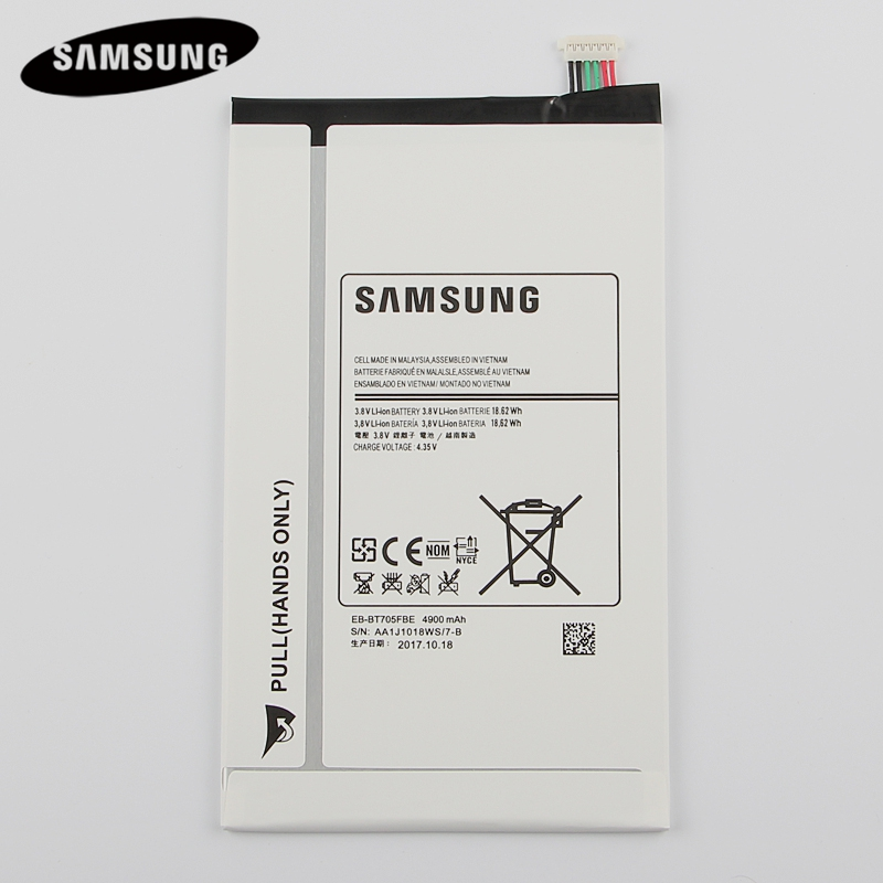 100% Original Tablet Battery EB-BT705FBC EB-BT705FBE For Samsung GALAXY Tab S 8.4 T700 T705 Genuine Replacement Battery 4900mAh