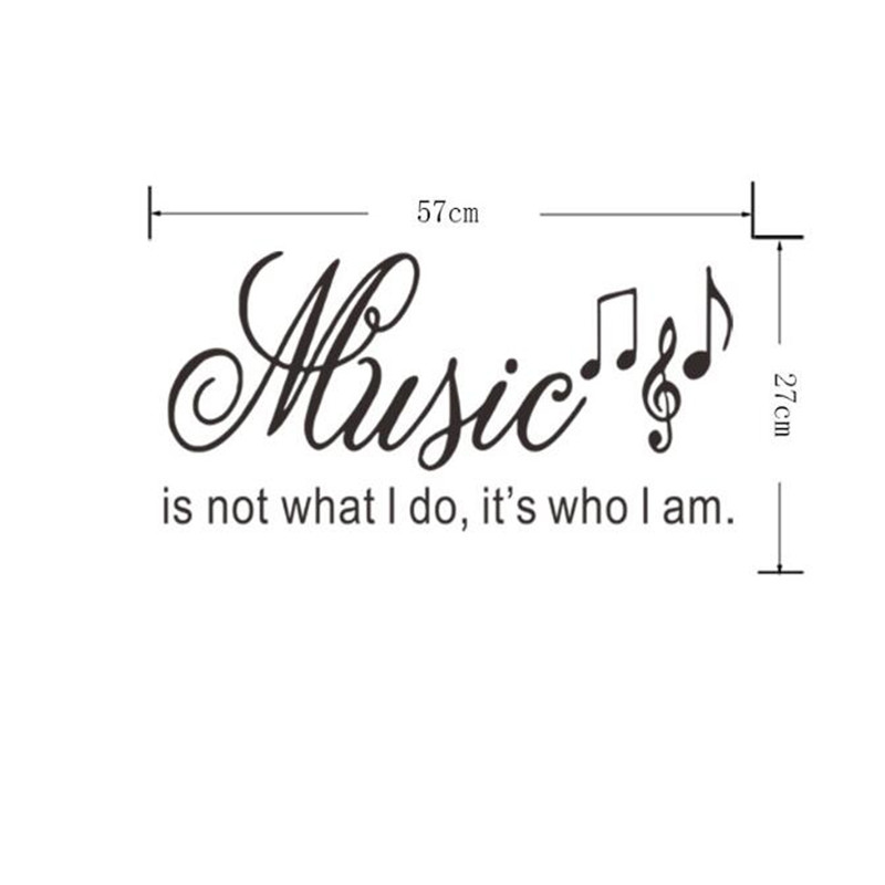 US $5.39 10% OFF|IDFIAF Where Words Fail Music Speaks Wall Stickers Quotes  Removable DIY Home Decor Vinyl Wall Decals Musical Notes-in Wall Stickers  ...