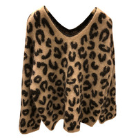 Autumn and Winter Sweater Women Christma Sweater Pull Korean Fashion V neck Long sleeve Leopard Printed Pullover Tops NS721