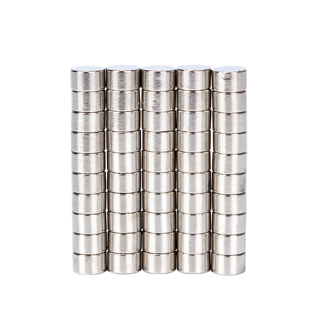 Hakkin 50pcs 8x5mm Strong Round Cylinder Magnets Rare Earth Neodymium N52 Permanent Powerful Magnet 50pcs round n52 neodymium magnets strong rare earth magnet disc 20mm x 3mm for industry tools