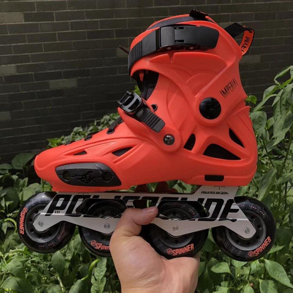100% D'origine 2018 Powerslide Impériale roller-skates Professionnel Slalom roller-skates Rouleau Livraison chaussures de patinage Coulissante Patines - 6