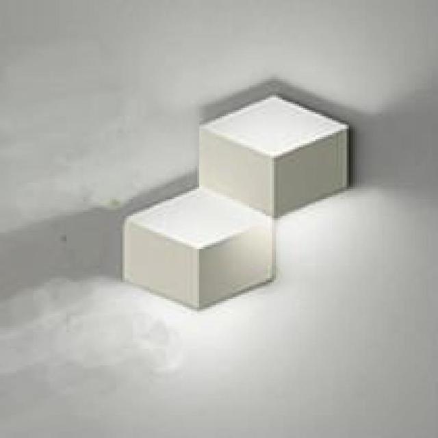 2 Heads Magic Led Wall Light Aluminum Stereo Rhombus Ice Cube 3d Wall Lamp Geometry Square Grid Box Indoor Lighting 1823