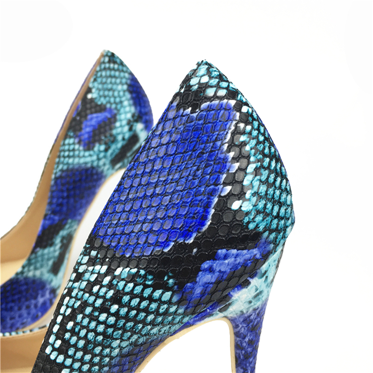 NEW Arrival Women Shoes Blue Snake Printed Sexy Stilettos High Heels Pointed Toe Women Pumps HTB1XqErXzgy uJjSZR0q6yK5pXae