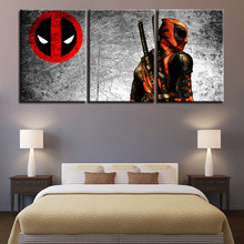 Canvas Pictures Home Decoration For Living Room HD Prints Movie Characters Posters Modern Wall Art Deadpool Paintings Framework(China)