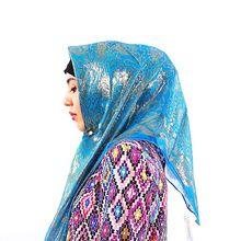 קידום מכירה! משי אקארד צעיף מרובע מוסלמי Hijabs צעיף אתני Ultralight צעיף חיג אב האסלאמי נשים של אביזרים