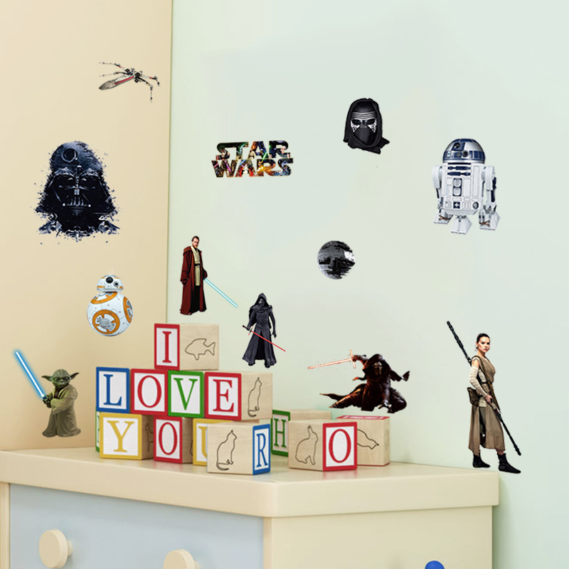 Creative Home Decor 3d Wall Stickers Movie Star Wars For Baby