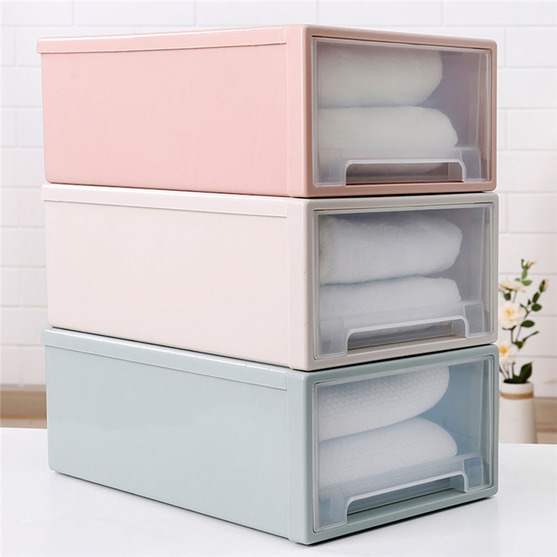 Image 2 - Storage Container Drawer Closet Organizer Plastic Muji Style Minimalist Stackable Organizer Cloest Plastic Storage Box-in Storage Drawers from Home & Garden