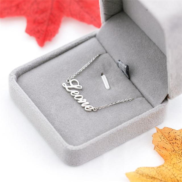 Yoga Sanskrit Choker Personalized Hindi Name Pendant Necklace Custom Jewelry Rose Gold Box Chain Meditation Spiritual Gift
