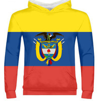 COLOMBIA male custom made name number col zipper sweatshirt nation flag co spanish republic country print photo logo 0 clothes