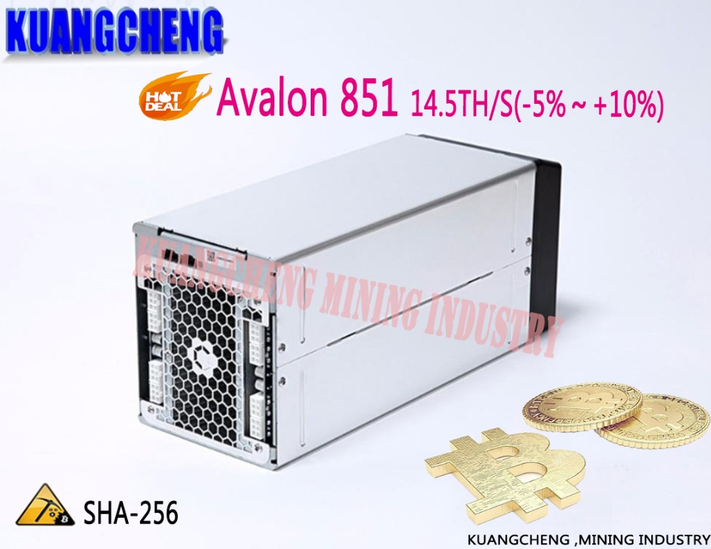KUANGCHENG Brand new Avalon 851 14.5T SHA256 ASIC BTC Bitcoin mining machine Miner A851 14.5TH/s 48 hours delivery!!(China)