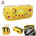 Amarillo Pokemon Pikachu de la Historieta Bolsa de La Pluma Maquillaje Teléfono Bolsa de La Escuela Caja de Cosméticos Caja de lápices Bolsa De Niñas Niños Niños Señora mujeres