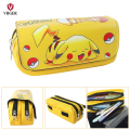 Yellow Cartoon Pokemon Pikachu Pen Pouch Phone Makeup Bag School Pencil Case Cosmetic Case Bag For Girls Boys Kids Lady Women