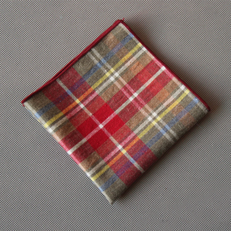 Mantieqingway Plaid Pocket Square Mens Handkerchiefs For Wedding Fashion Men's Business Suit Pocket Towel Ladies Hankies