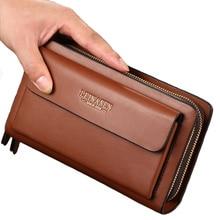 Новый бизнес кошелек карман для монет длинный кожаный портфель большой ёмкость Модные женские кошельки Держатель для карт клатч паспорт