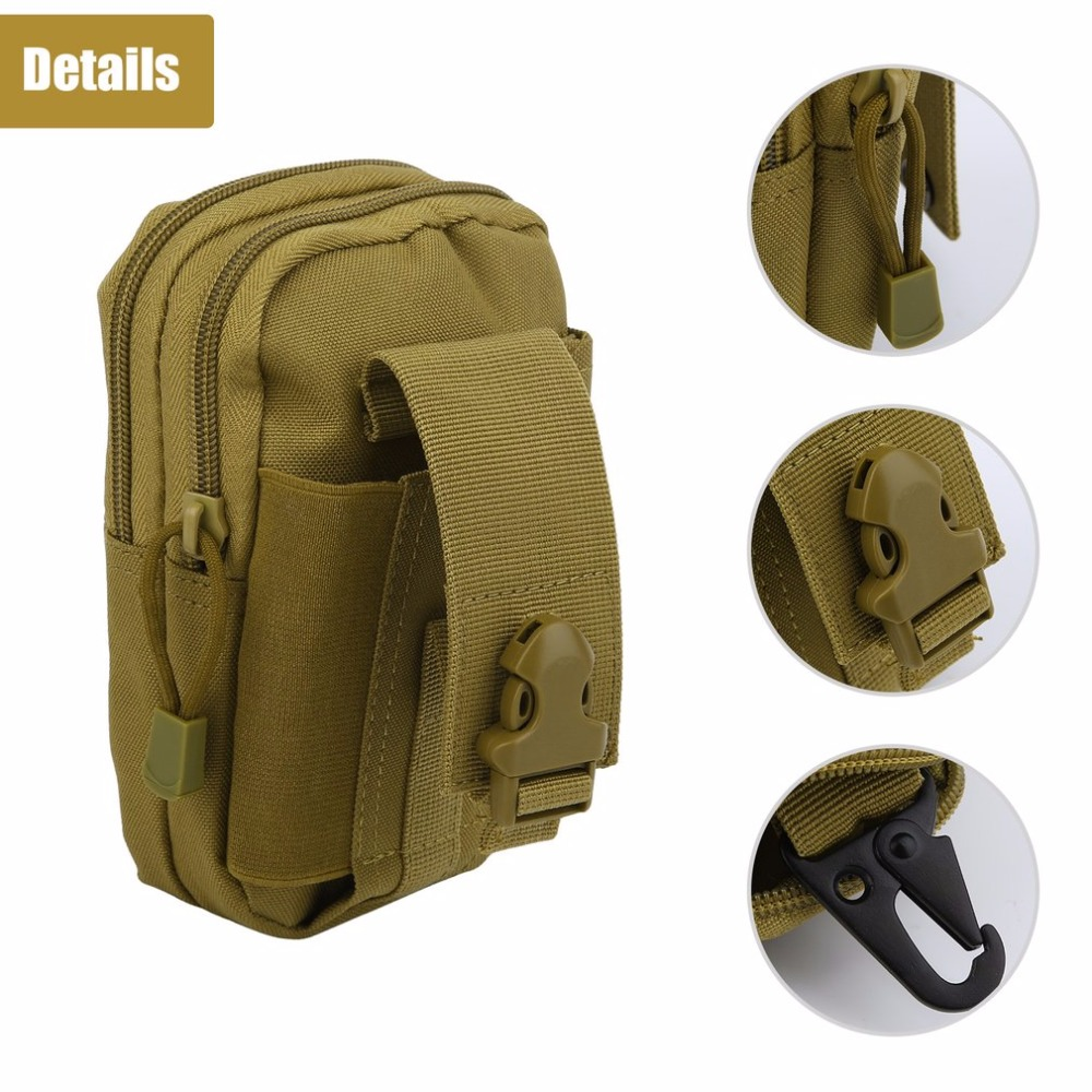 Outdoor Military Tactical Waist Belt Camping Climbing Bag Nylon Purse Sports Hiking Travel Pouch Phone Case Belt Pack Bags