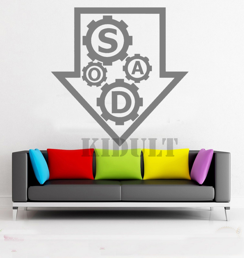 Household Items Home Decoration Wall Decals Wall Stickers Soad Music Gear Creative Design Free Shipping Vinyl Wall Decals