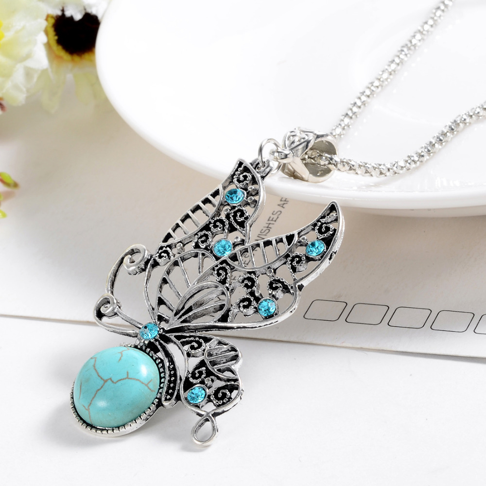 2017 New Fashion Jewelry Natural Turquoise Stone Pendant ...