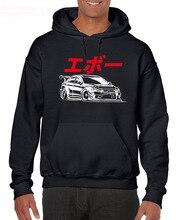 где купить 2019 fashion Brand New Hoodies EVO JAPAN S-3XL Mitsubishi JDM Hoodie Boost Turbo Decal Mivec Sweatshirt по лучшей цене