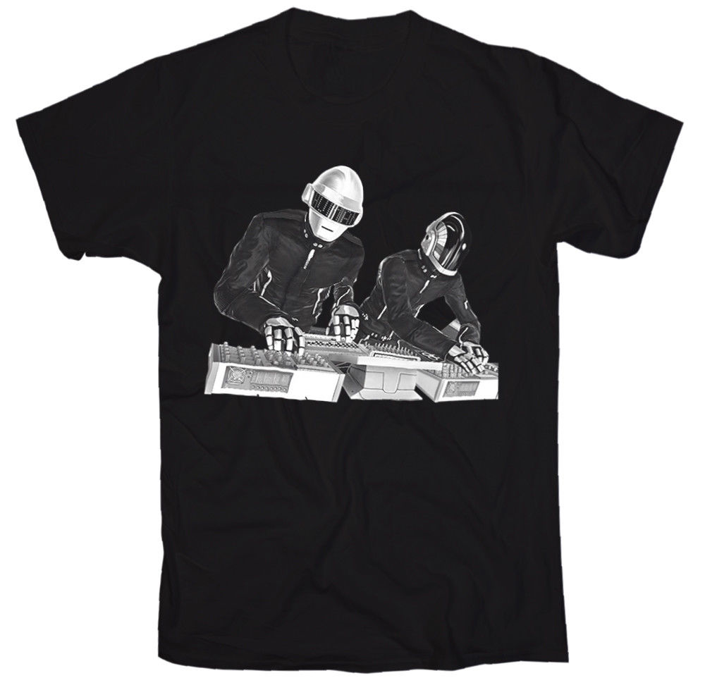 NWT Daft Punk Scratch Turntable DJ Ed Banger Dance Tee T Shirt T-Shirt Men Short Sleeve Fashion Summer Printing Casual