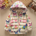Children dress jacket coat 5 baby girls 3 children 4 boys 1-2 years old baby winter clothes thickened tide