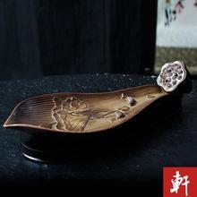 Ceramic incense lying burner stick inserted abundance of fragrant sandalwood furnace Lotus Leaf rosette flowers