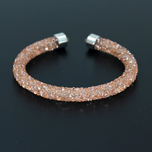 VONNOR Jewelry 2017 Crystal Bracelets Bangles for Women Single Circle Bracelet Female Gift