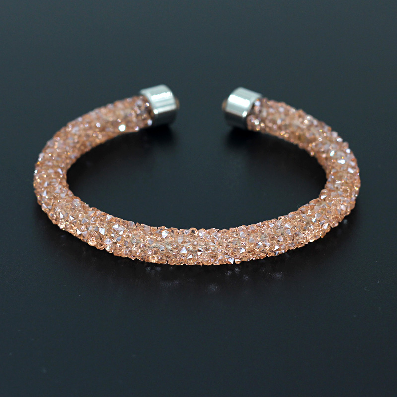 VONNOR Smykker Crystal Armbånd Bangles For Women Single Circle Armbånd Female Accessories Dropshipping