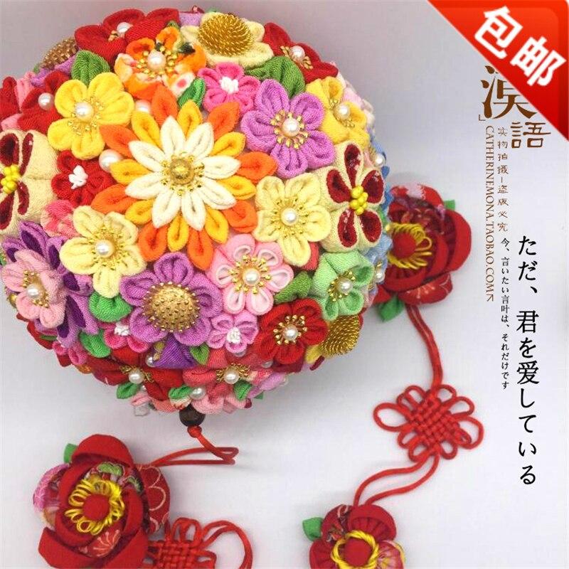 Ручной работы Интимные аксессуары Китайская традиционная гортензии хлопчатобумажной ткани цветок мяч Рождественский подарок marrige подарок