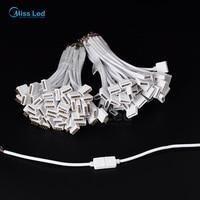 Frete grátis 10 pairs 5pin Conector JST fio Branco Masculino feminino 15 cm cabo conector Led para Para RGBW 5050 LEVOU tira
