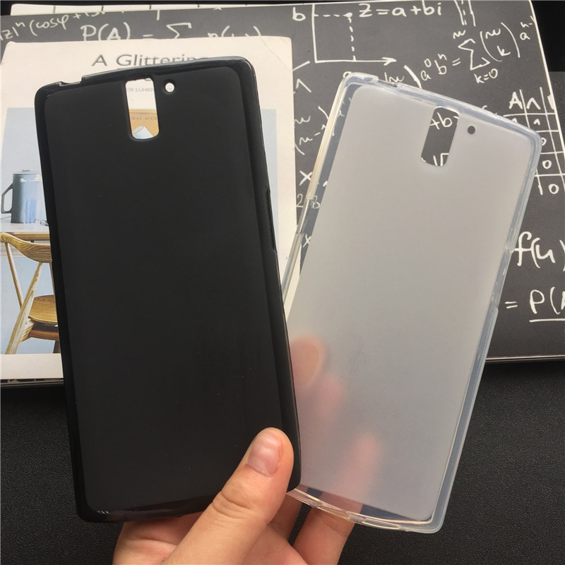 Soft Silicone Protective <font><b>Back</b></font> Cover Cases for <font><b>Oneplus</b></font> 1 / <font><b>One</b></font> Plus <font><b>One</b></font> <font><b>A0001</b></font> TPU Mobile Phone Case Black Para Original Coque image
